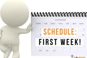 Getting a Schedule for Your First Week of Home Schooling