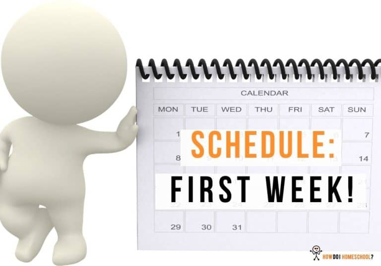 First week of home education schedule-min