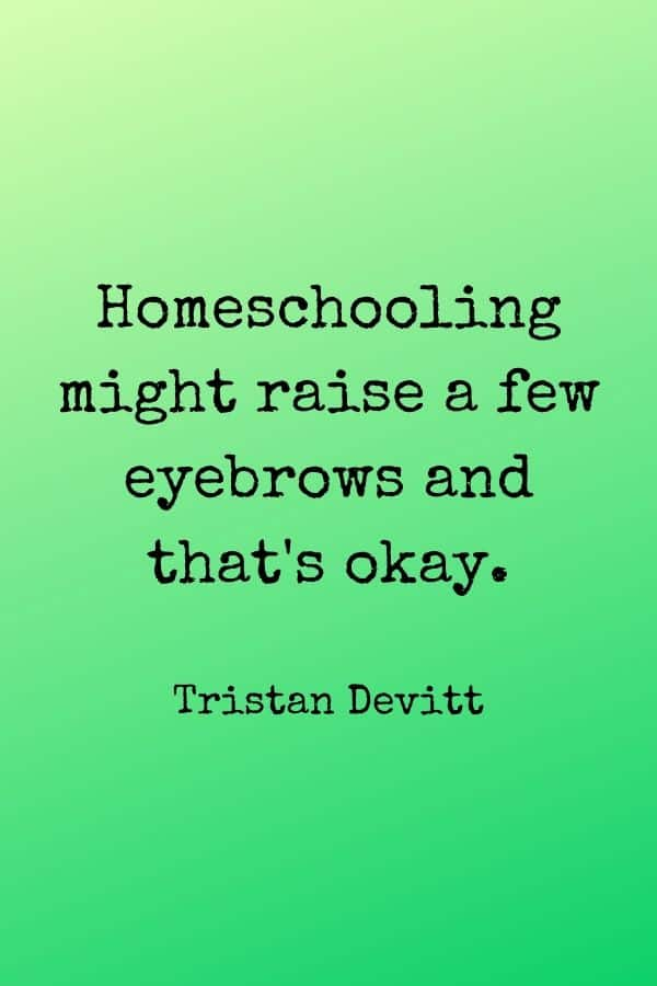 Homeschooling might raise a few eyebrows and that's okay. Home Education Quote