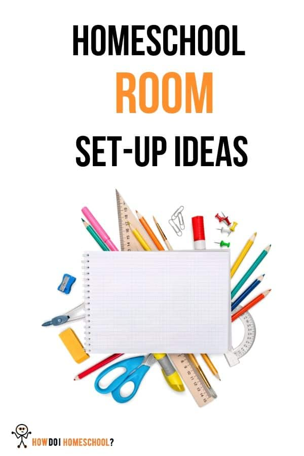 Check out these cool homeschool room set-up ideas. Get an idea of the cost of homeschooling setup and how much you can save using cheaper methods. We kit out the schoolroom with a desk, stationary, chairs, computers and other materials to make you and your child more comfortable in their study space. #costofhomeschooling #homeschoolroomsetupideas