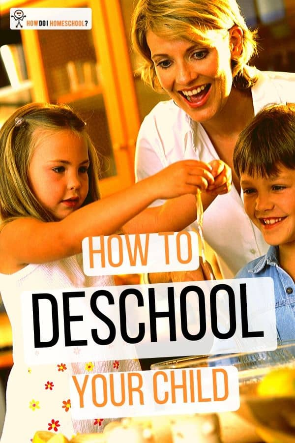 Don't know how to transition from school to #homeschool? The first step is #deinstitutionalizing your children. Find out about the deschooling process by reading this article! #deschooling