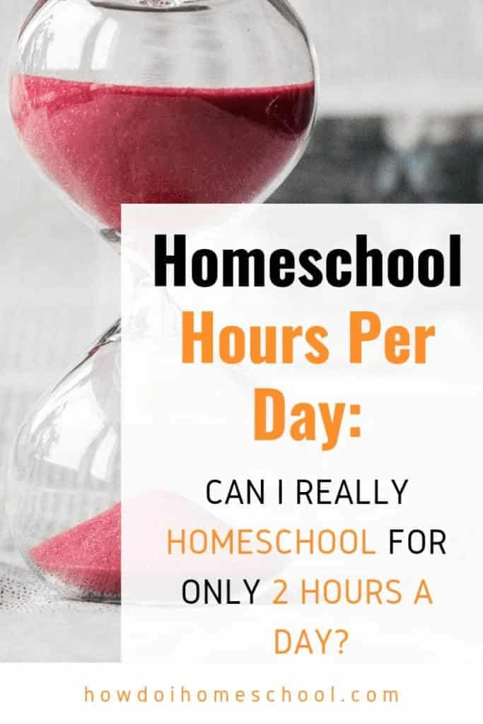 How many #homeschool #hours per day should you do? Can you homeschool for only 2 hours a day? These are the questions that many new homeschooling moms ask. They want to know if they can effectively provide good educational instruction in such a short period. This is a pertinent question as many schools take over 5 hours to teach the same content to their students.