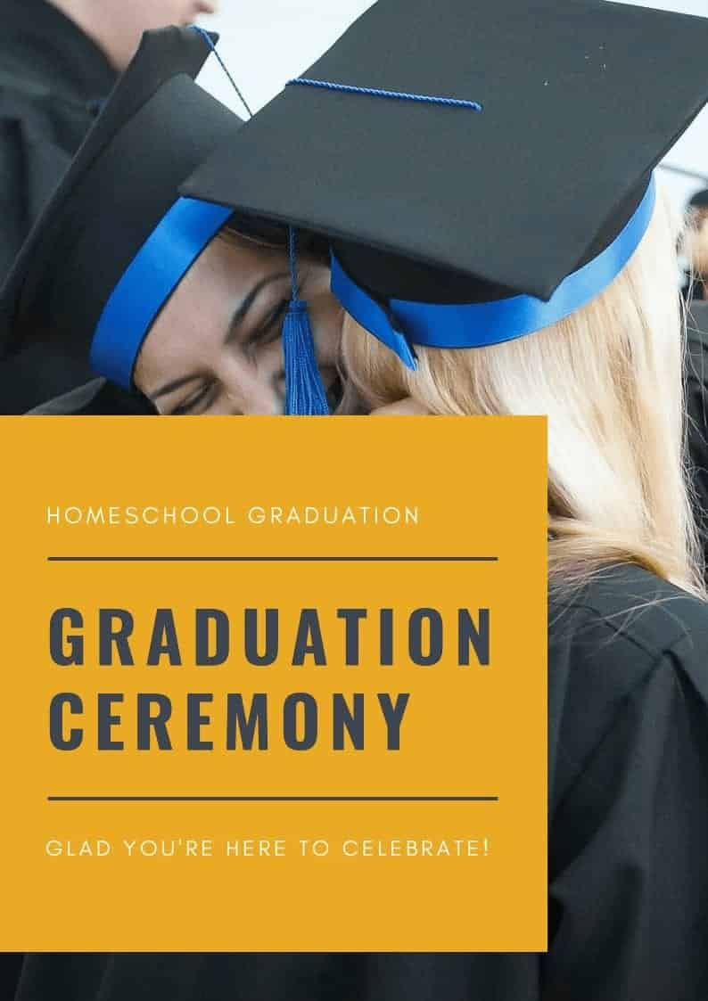 Homeschool Graduation Program Template (doc)