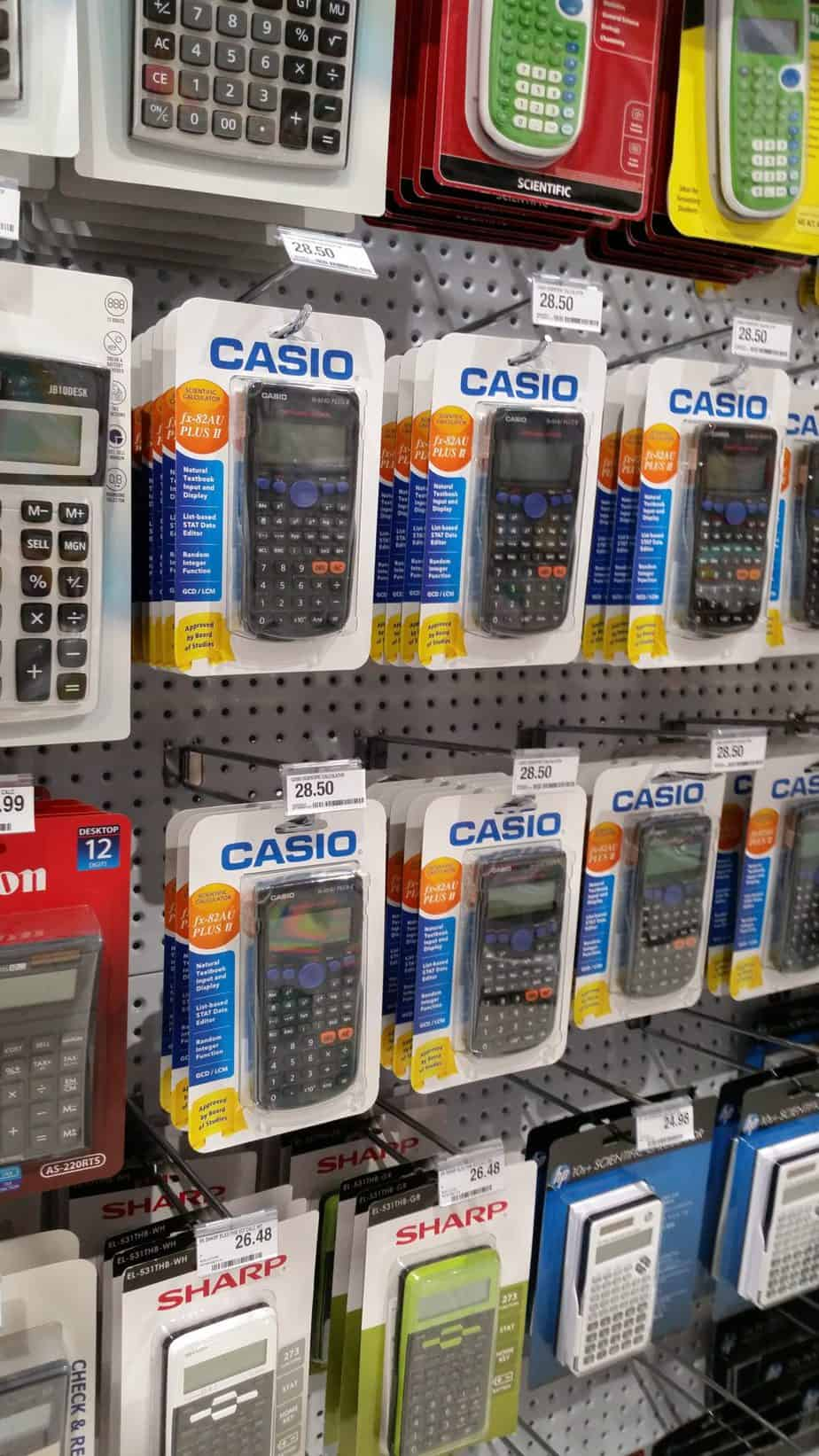 High school-aged homeschoolers will find a scientific calculator indispensable in their homeschool room.