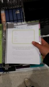 Paper-based journal planner for curriculum planning.