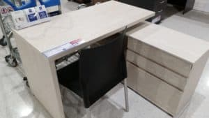 A great desk for a homeschool room that will fit in a compact area.