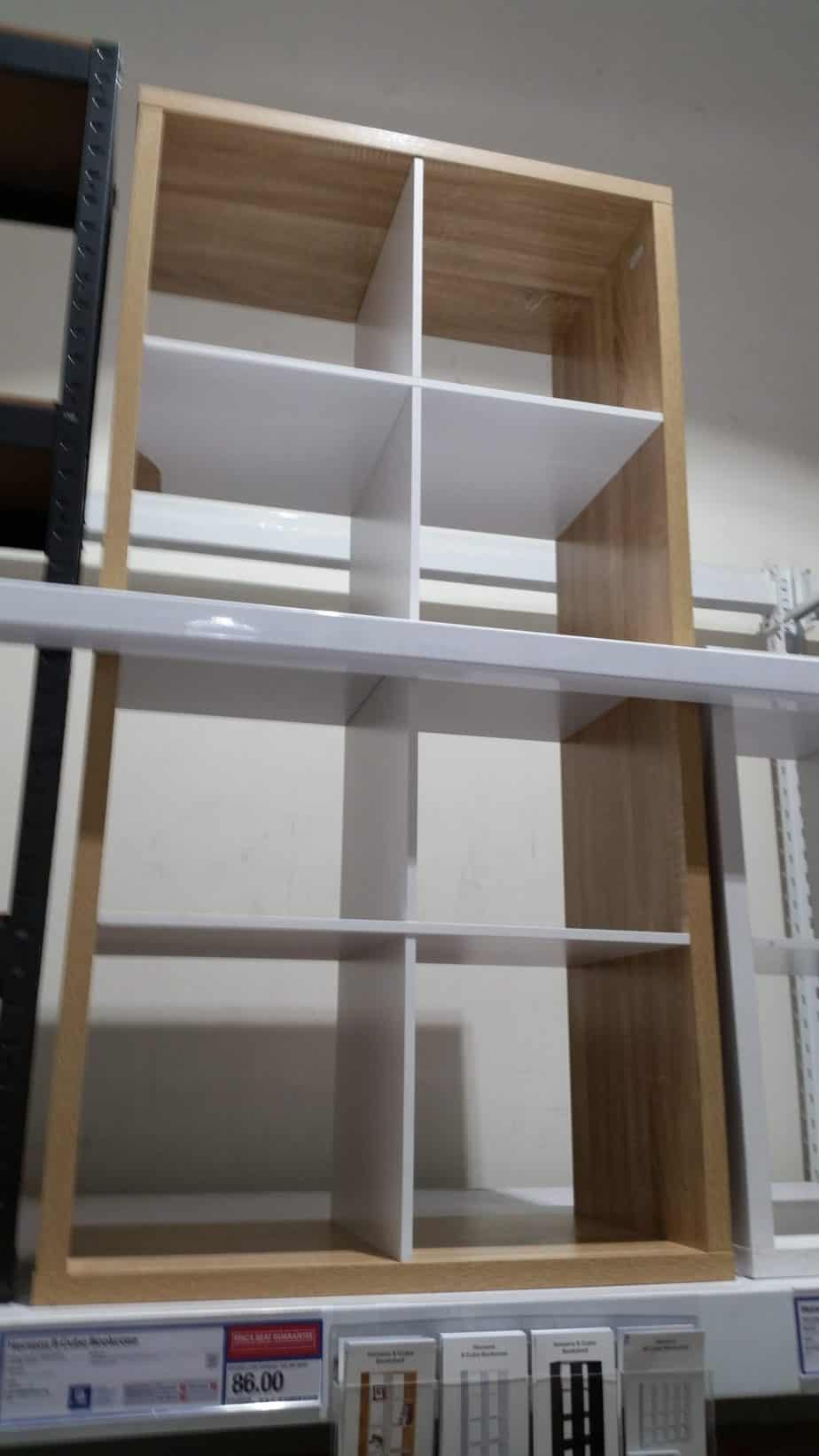 This is what every homeschool room needs. A modular bookcase. I found this one at Officeworks but I also think you can do an IKEA homeschool room and get something comparable. #homeschool room. #howdoihomeschool