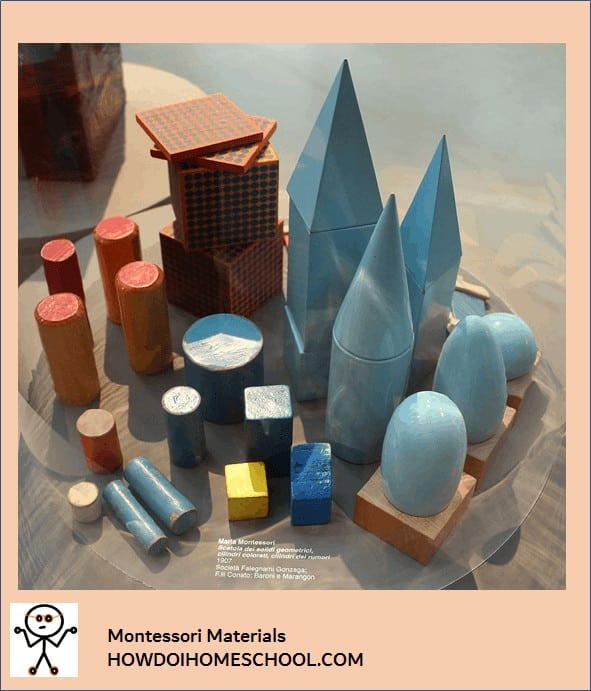 Materials popular in Montessori homeschools.