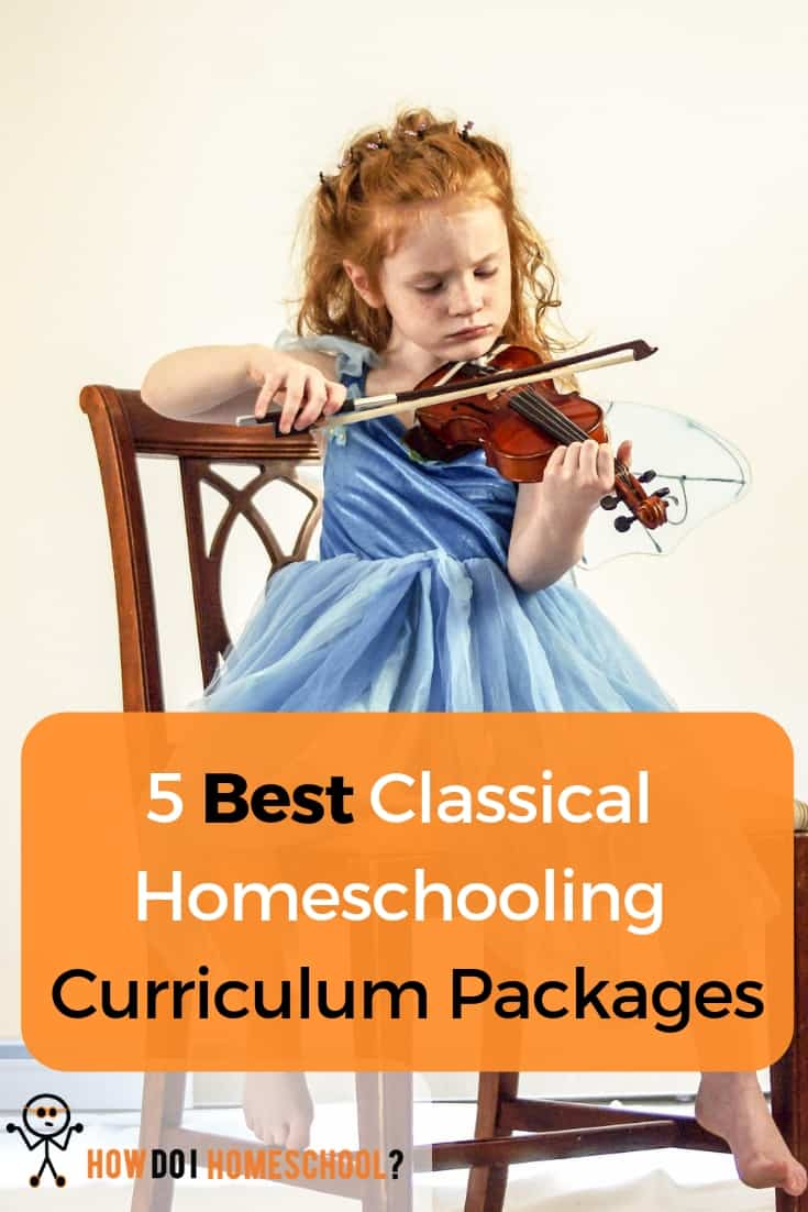 5 Best Classical Homeschooling Curriculum Packages in 2019. Love Classical education but don't know which curriculum is the best? We review five classical education curriculum programs available to homeschooling families. #howdoihomeschool #homeschoolcurriculum #classicalcurriculum #classicalhomeschoolingcurriculum