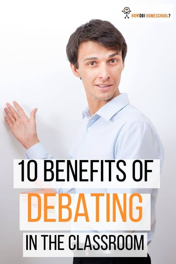 Advantages of debating in the classroom. Discover the importance of debate in classical education. #benefitsofdebating #importanceofdebateineducation #howdoihomeschool