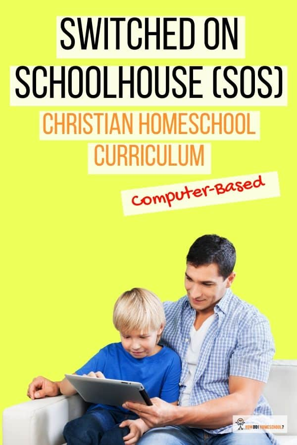Homeschool Curriculum Review: Switched-on-Schoolhouse. #soshomeschool #switched-on-schoolhousereviews