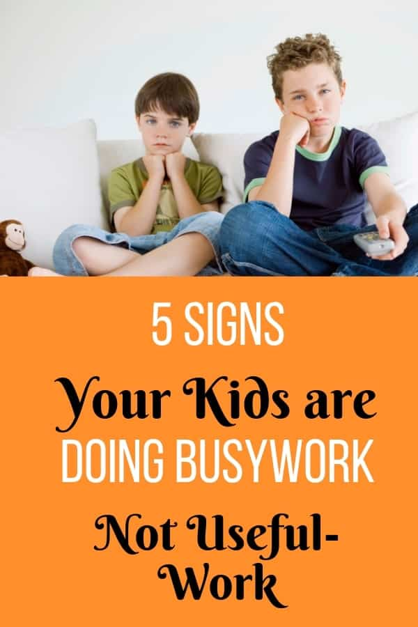 Ever feel frustrated at the amount of work your children bring home from school that they don't need to do? This is called busywork and these are the signs your kids are doing it.