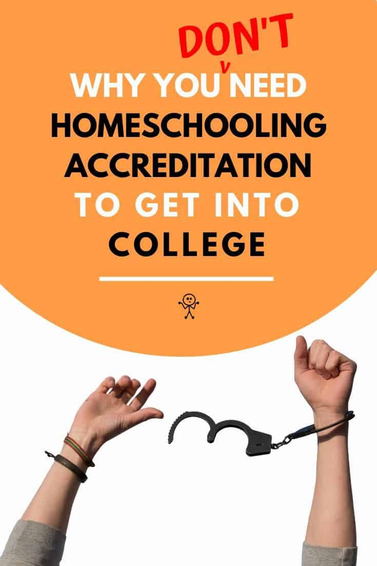 Why You Don't Need Homeschool Accreditation to Get Into University! Learn why you don't need to be studying an accredited homeschool program to enter university and different pathways that will get you into university. #accreditedhomeschoolprogram #homeschoolaccreditation #homeschoolcollege