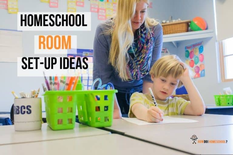 Discover cool homeschool room setup ideas for your house. Get an idea of the cost of homeschooling setup and how much you can save using cheaper methods. We kit out the schoolroom with a desk, stationary, chairs, computers and other materials to make you and your child more comfortable in their study space. #costofhomeschooling #homeschoolroomsetupideas