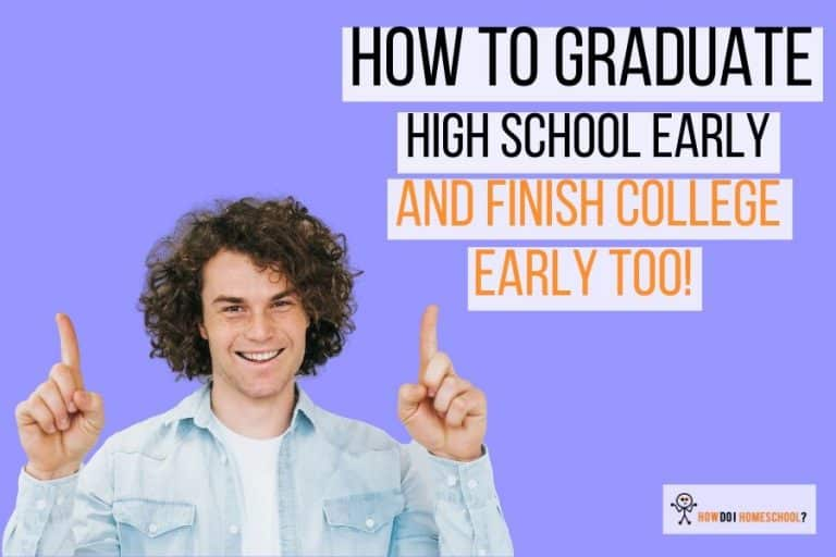 Discover how you can graduate high school early and finish college or a trade early. #graduatehighschoolearly #howdoihomeschool