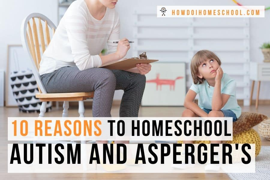 Discover these 10 reasons to homeschool autism and Asperger's children. Investigate why the home environment is so suited to children who have autism. #homeschoolingautism #reasonstohomeschool