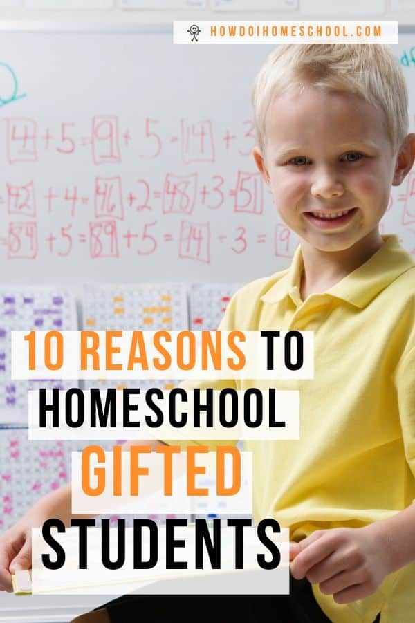 Does your child struggle at school as they twiddle their thumbs waiting for others to finish their work? If so, you might have a gifted child. Learn why homeschooling smart children, like gifted or twice-gifted students is a great idea. #homeschoolinggiftedstudents #homeschoolinggiftedchildren