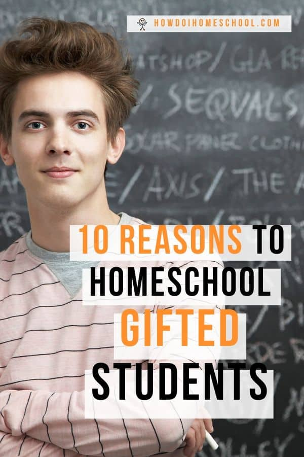 Is it best to homeschool a gifted child? Gifted students can struggle in the school setting. In this article, we look at some reasons homeschooling gifted children is a good idea. Namely, gifted students lets them work their brains to their full capacity and satisfy their ravenous desire for knowledge. Checkout the article! #homeschoolinggiftedstudents #homeschoolinggiftedchildren #giftedstudents