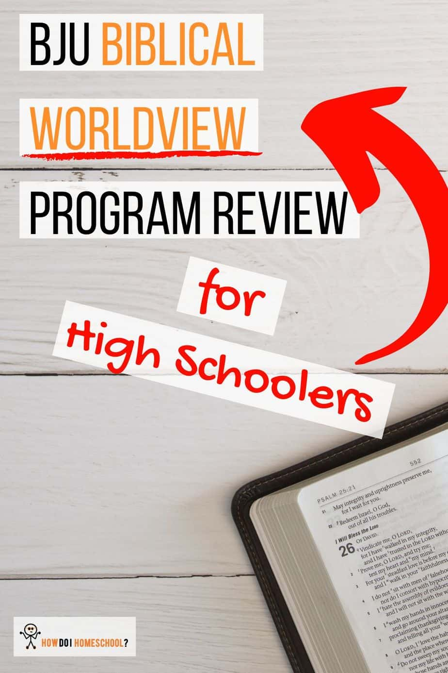 Train your high school homeschoolers in a biblical worldview using the BJU Biblical Worldview curriculum. #bju #worldview