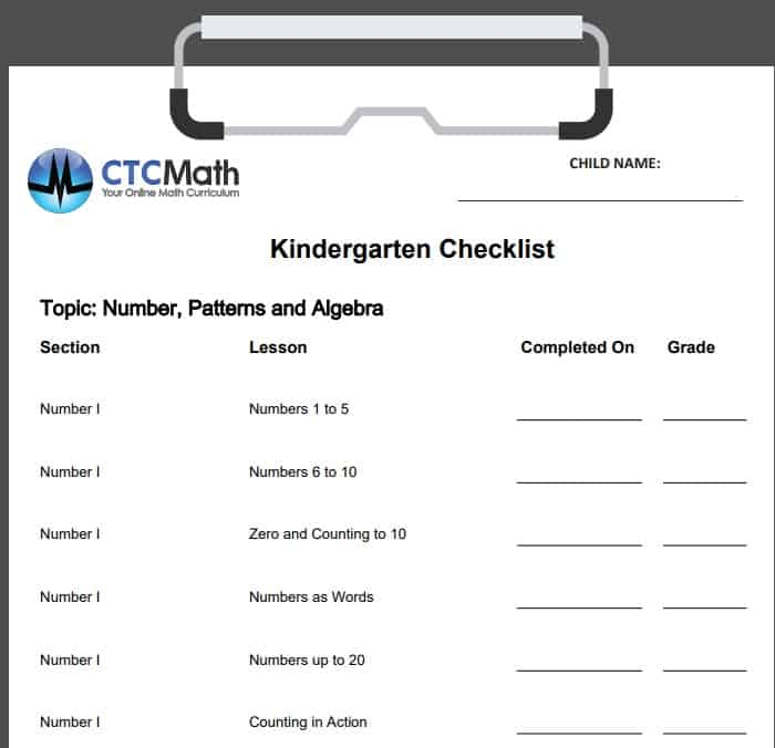 Kindergarten Checklist to make sure children have learned everything they need to. This lets you quickly scan the areas they need improvement in.