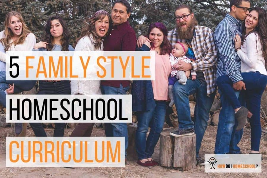 5 Family Style Homeschool Curriculum Packages. #largehomeschoolfamily #familystylehomeschoolcurriculum