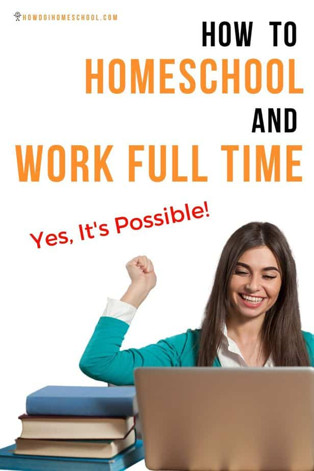 Don't think it's possible to homeschool and work full time? Julia Robson is living proof that it is. The process requires a little flexibility and a change of mindset, but it is totally doable! #homeschoolandworking #homeschoolandworkfulltime