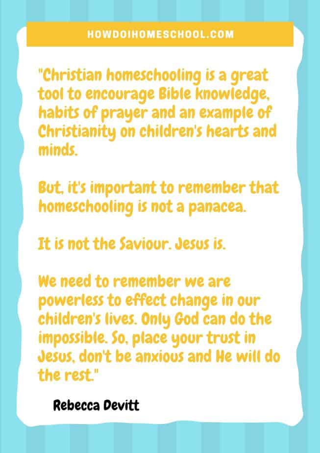 Christian Homeschooling Quote